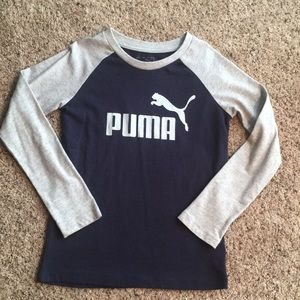 Puma Boys Long Sleeve Shirt Size 6